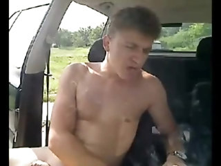 Amateur,gay Montage of getting naked in a car and getting off