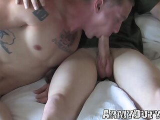 Big Cock,Uniform,Blowjob,gay,deepthroat,jock,military,sixtynine,army,soldier,ArmyDuty,troop,HD Athletic inked soldiers sixty nine blowing cock and anal sex