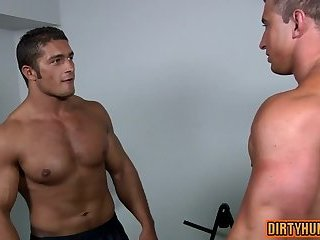 Anal,gays,gay,gym,muscle, workout Muscle gay oral sex and cumshot
