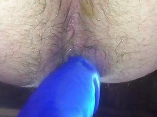 Masturbation (Gay);Sex Toy (Gay);Spanking (Gay);HD Videos;Anal (Gay) Playing with My New Blue Dong Again