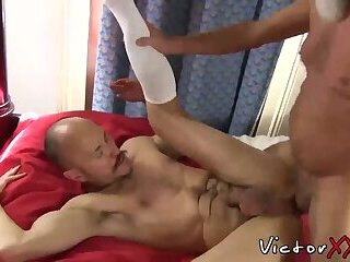 Tattoo,Blowjob,Bareback,daddy,gay,piercing,hairy,HD Hairy dad with piercing loves hard bareback sex and blowjob