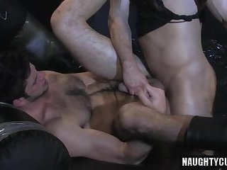 Anal,Domination,gay,fuck,big dick,muscled,couple Hairy jock anal and cumshot