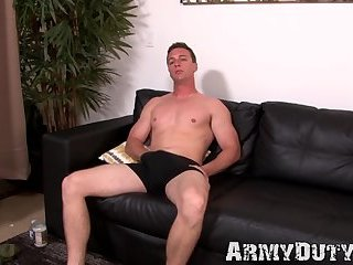 Masturbation,Solo,Big Cock,Uniform,gay sex,hunk,stud,muscle,jock,military, trimmed,army,hardcore gay,ArmyDuty,gay Cute soldier boy grabs his trimmed dick and jerks it off