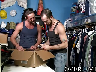 Amateur (Gay);Gay Porn (Gay);Sex Toys (Gay);Men Over 30;HD Gays Mike prep his ass before Blake gets his big dick inside