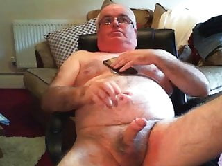 Masturbation (Gay) grandpa cum on webcam