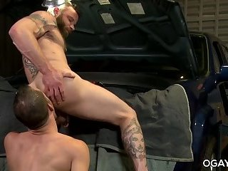 anal sex,hardcore,condom,deep throat,hairy, ass play,facial hair,gay Bubble butt Derek and Jimmy