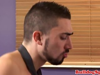 Anal,Cumshot,Big Cock,gay Suit stud pounding ass in the office