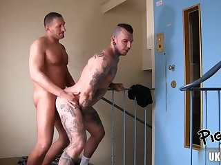 Anal,Tattoo,gay,creampie,muscle,euro Hot gay oral sex with creampie