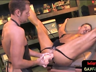 Fetish,Fisting,Object Insertion,bdsm,toys,muscle, ass play,gay Lubed up hunk taking massive toy