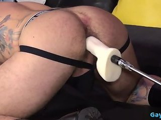 Dildo,Domination,Fetish,Hunks,gay,muscle,fuck machine Muscle gay fetish with cumshot