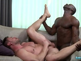 Anal,Bears,Gloryhole,group sex,gay Black guy with monster cock fucks his white bf