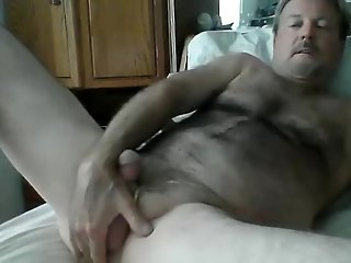 amateur,masturbation,solo,dildo,mature,object insertion,gay Daddy and his Toy