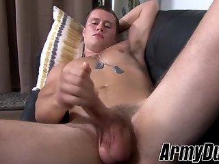 Amateur,Masturbation,Solo,Big Cock,jerking off,military,army,ArmyDuty,gay Fit soldier Damien Nichols wanking his big dick with passion