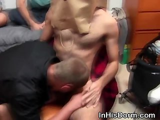 party,blowjob,gay,oral,hardcore,college,hazing Frat Boy Wearing A Paper Bag Sucked Off At Gay Dorm Party