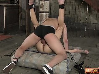 Domination,Fetish,gay,ass,bdsm,muscle Muscle gay domination and cumshot