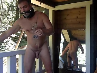 Amateur,Solo,Fetish,Outdoors,beard,gay Handsome dad gets some instruction