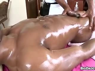 Anal,Ebony,Massage,oiled,gay Rubbing In Some Chocolate Morsel black