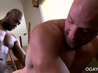 Anal,Ebony,Interracial,Rimming,oral,anal sex,hardcore,condom,brunette,black,gay,Diesel Washington Room service
