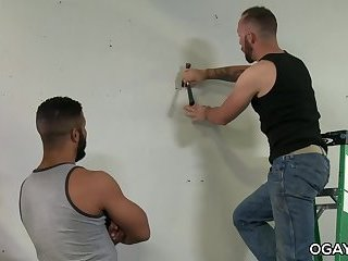 Interracial,anal sex,deep throat,latino,hairy,gay Hairy latino takes his friend's cock