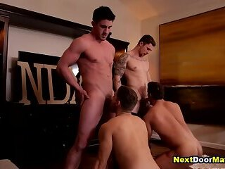 Anal,First Time,Hunks,Rimming,Blowjob,Bareback,group sex,muscle,jocks,college,foursome,straight,athletic,gay Straight guys made to suck & fuck cocks to join fraternity