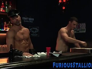 Bears,Bisexual,Blowjob,gay,HD Well hung leather bears in blowbang