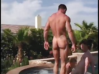 Beefy Gay Trio Ass Pounding