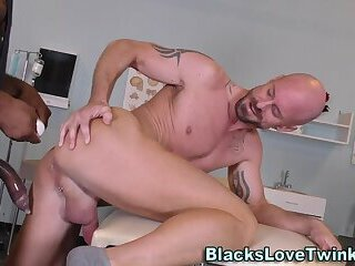 Anal,Cumshot,Amateur,Big Cock,Ebony,Interracial,muscle,gay Black doctor rims butt