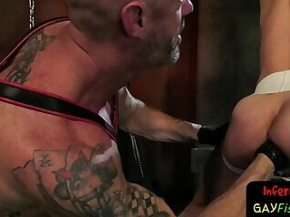Domination,Fetish,Fisting,Blowjob,ass,muscle,hung,gay Bdsm stud fisted from behind by maledom