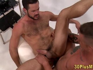 Bisexual,Gangbang,bdsm,cock 2 cock,gay,HD Sucked bear rides dick and gets cock tugged