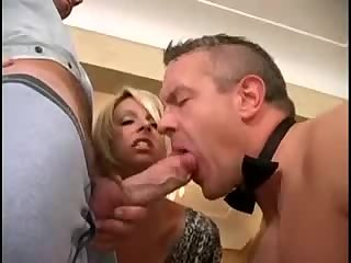 Cumshot,Amateur,Masturbation,Big Cock,Crossdressers,Handjob,Interracial,Blowjob,gay Husband-slave is sucking a friend of his wife