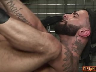 Anal,Cumshot,Tattoo,muscle,hunksbear,gay Muscle bear anal with facial