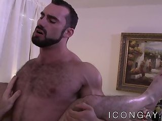 Anal,Big Cock,Blowjob,kissing,hunk,big dick,muscle,hairy,gay porn,abs,beard,hardcore gay,icongay,gay,Billy Santoro Muscular butt buddies have a passionate dick riding session