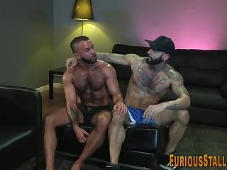 Anal,Big Cock,Body Builders,Hunks,Blowjob,muscle,hairy,gay Big dick hunk gets facial