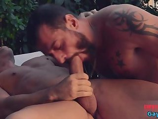 Anal,Hunks,Tattoo,gay,gay anal Big dick gay anal sex with facial
