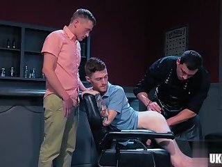 Anal,Fisting,Rimming,Threesome,gay,gay anal, ass play Tattoo gay anal fisting and cumshot