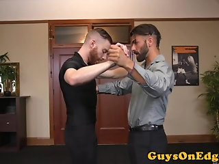 Bondage,Domination,Fetish,Handjob,Object Insertion,gay Dominated stud gets restrained and edged
