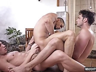 Anal,Gangbang,Threesome,gay,group sex,fuck,big dick,double penetration,muscle, flip flop Big dick gay flip flop with facial