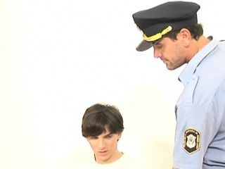 Blowjob (Gay),Gays (Gay),Twinks (Gay),Uniform (Gay) Lusty for boys policeman uses a hot suspect orally