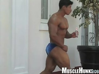 Solo,Body Builders,Latinos,muscle,athlete,gay Japanese bodybuilder rimjob and cumshot