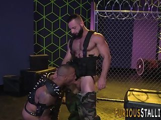 Anal,Cumshot,Big Cock,Bears,Body Builders,ass,hardcore,fuck,muscle,hairy,gay Buff bear in leather cums