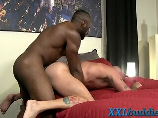 Anal,Cumshot,Big Cock,Body Builders,Ebony,Interracial,gay Muscled black hunks big cock cums into mouth