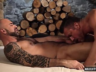 Hunks,Rimming,Tattoo,big dick,boyfriend,gay Big dick boyfriend bareback and cumshot