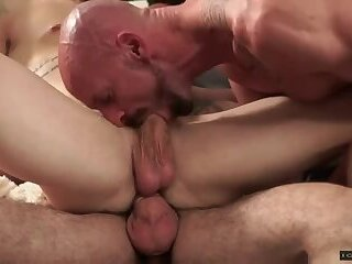 Anal,Cumshot,Masturbation,Hunks,Rimming,Threesome,Blowjob,mouth fuck,ass eating,Leo Luckett,gay,Mitch Vaughn,Sergeant Miles Young and horny Trent is ready for more