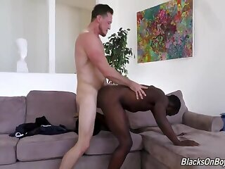 Anal,Ebony,Interracial,Rimming,gay darksome Bottom Seduces BWC