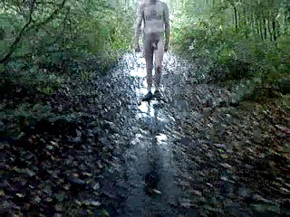 Men (Gay);Walking Nude;Nude Outdoors;Woods;Walking;Outdoors;Filmed;Nude Nude Outdoors Filmed Walking in Woods