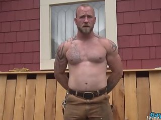 Masturbation,Solo,Outdoors,Tattoo,hung,wolf,gay Muscle gay piss and cumshot