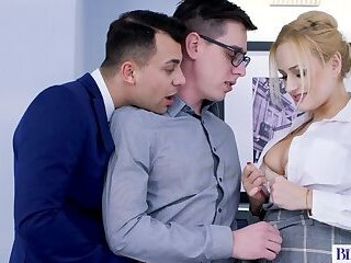 Anal,Masturbation,Bisexual,Threesome,Blowjob,gay Bisexual Office Romp of Two Studs and a Hot MILF