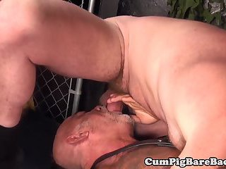 anal,mature,tattoo,oral,kissing,anal sex,muscled, tattoos,gay Mature leather bear fucked by bearded ginger