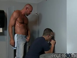 Anal,Hunks,Tattoo,Threesome,anal sex,hardcore,piercing,condom,brunette,hairy,muscled,Over30men,gay Big dick and tattooed hunks fucking at the glory hole