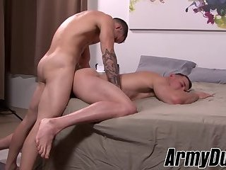 Big Cock,Uniform,Blowjob,Bareback,gay sex,military, tattoos,army,hardcore gay,ArmyDuty,gay,Quentin Gainz Military cock sucker craves for a fat dick in his tight rear